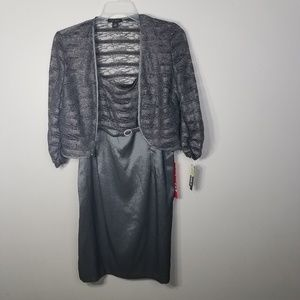 NWT Mother of the bride charcoal 2-piece size 14